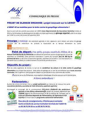 Projet de glanage organisé : projet innovant sur le Loiret