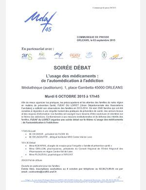 L'UDAF propose une soirée débat sur le thème de l'usage des médicaments - de l'automédication à l'addiction