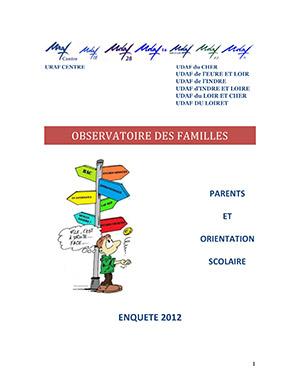 Observatoire des familles - Résultats régional